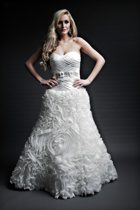 2013 wedding dresses designer Angel Rivera Victoria Collection tysa front