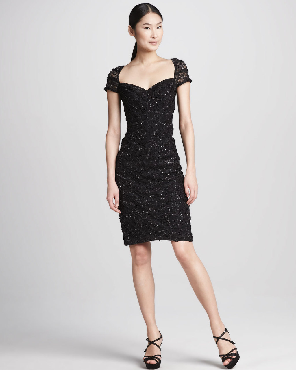 Black beaded LBD for mothers of the bride