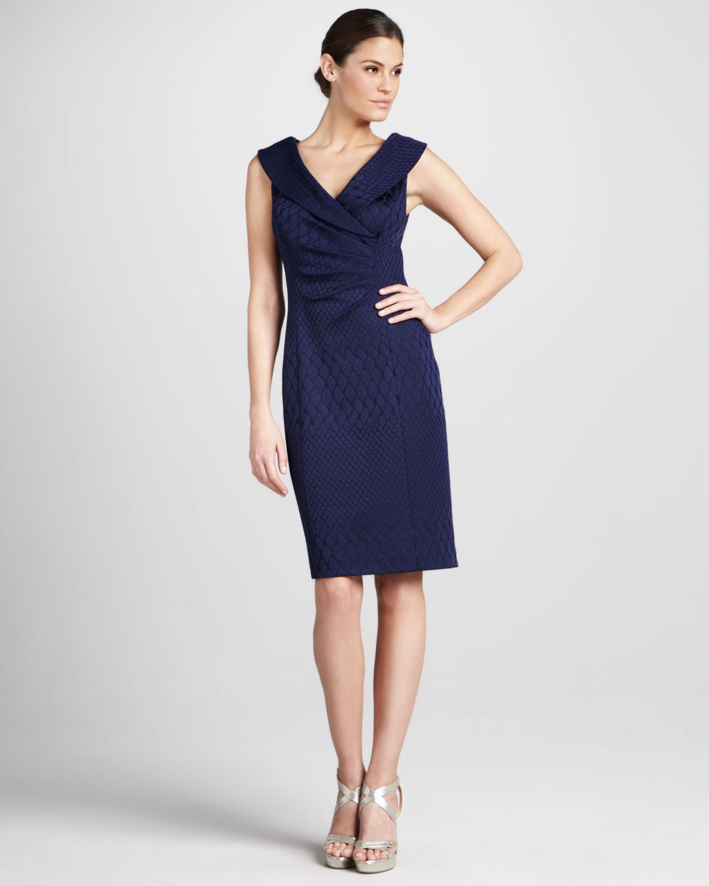 Navy-blue-frock-for-mob-or-bridesmaids.full