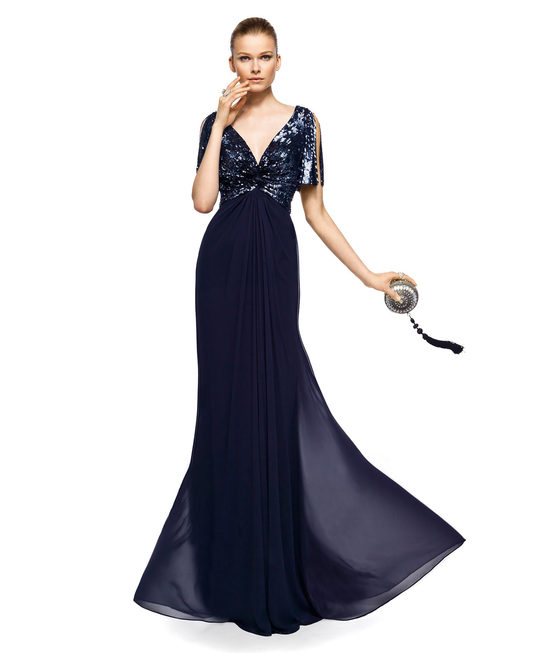 Deep navy evening gown for mothers of the bride