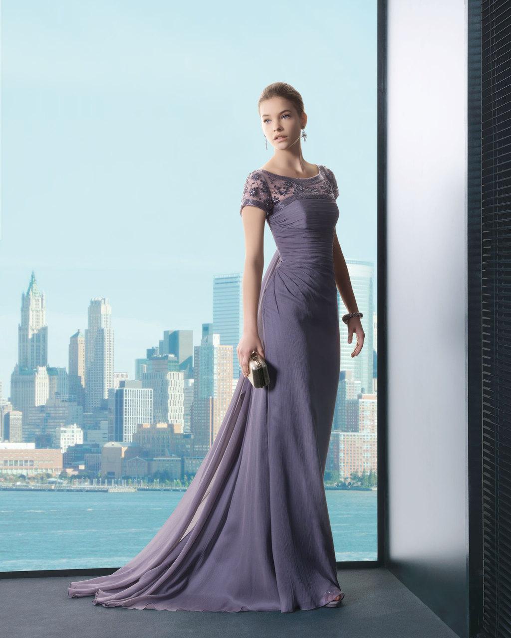 Purple mauve bridesmaid dress or MOB gown