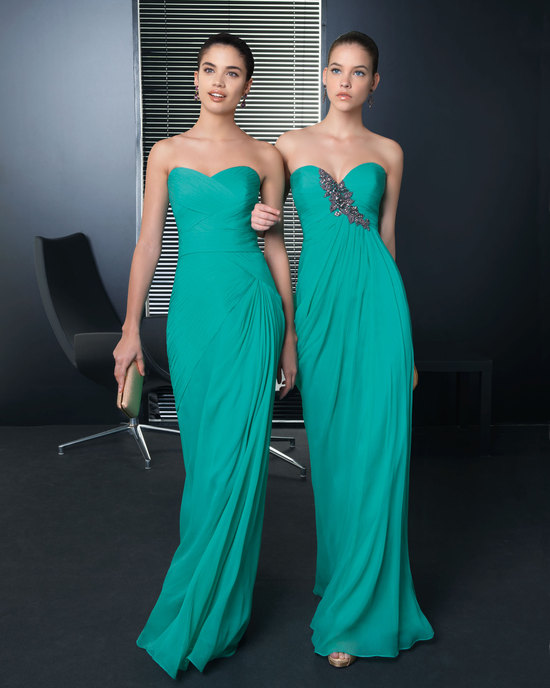 Emerald Aqua Bridesmaid Dresses Elegant