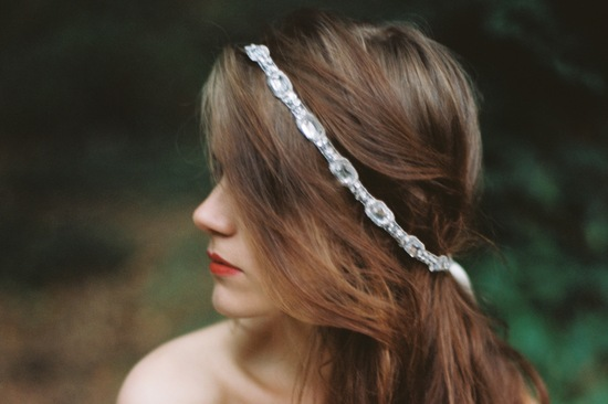 Art deco crystal bridal headband