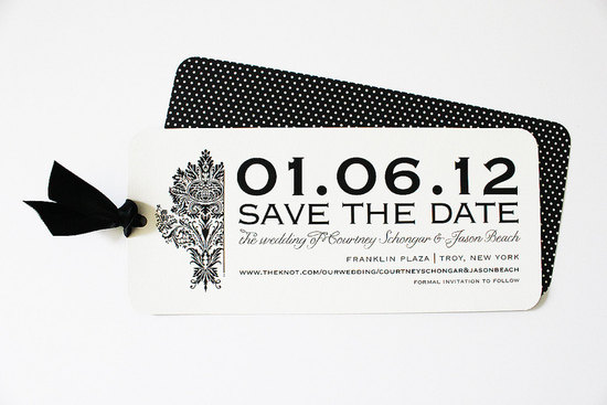 Damask modern wedding save the date