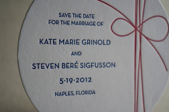 Tie the Knot wedding save the date coasters
