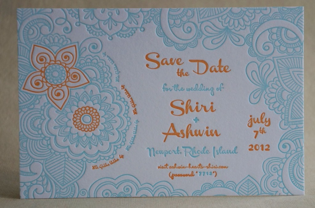 Turquoise-orange-white-wedding-save-the-date.full
