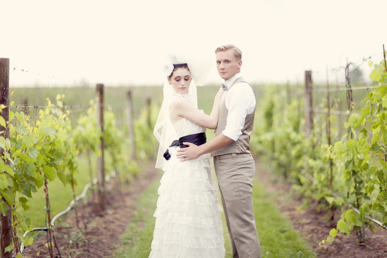 romantic vineyard wedding with a French twist
