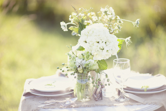 photo of romantic vineyard wedding with a French twist
