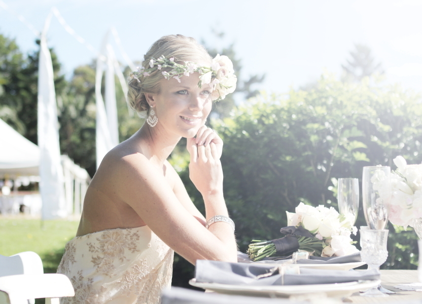 Outdoor romantic wedding bohemian bride 4