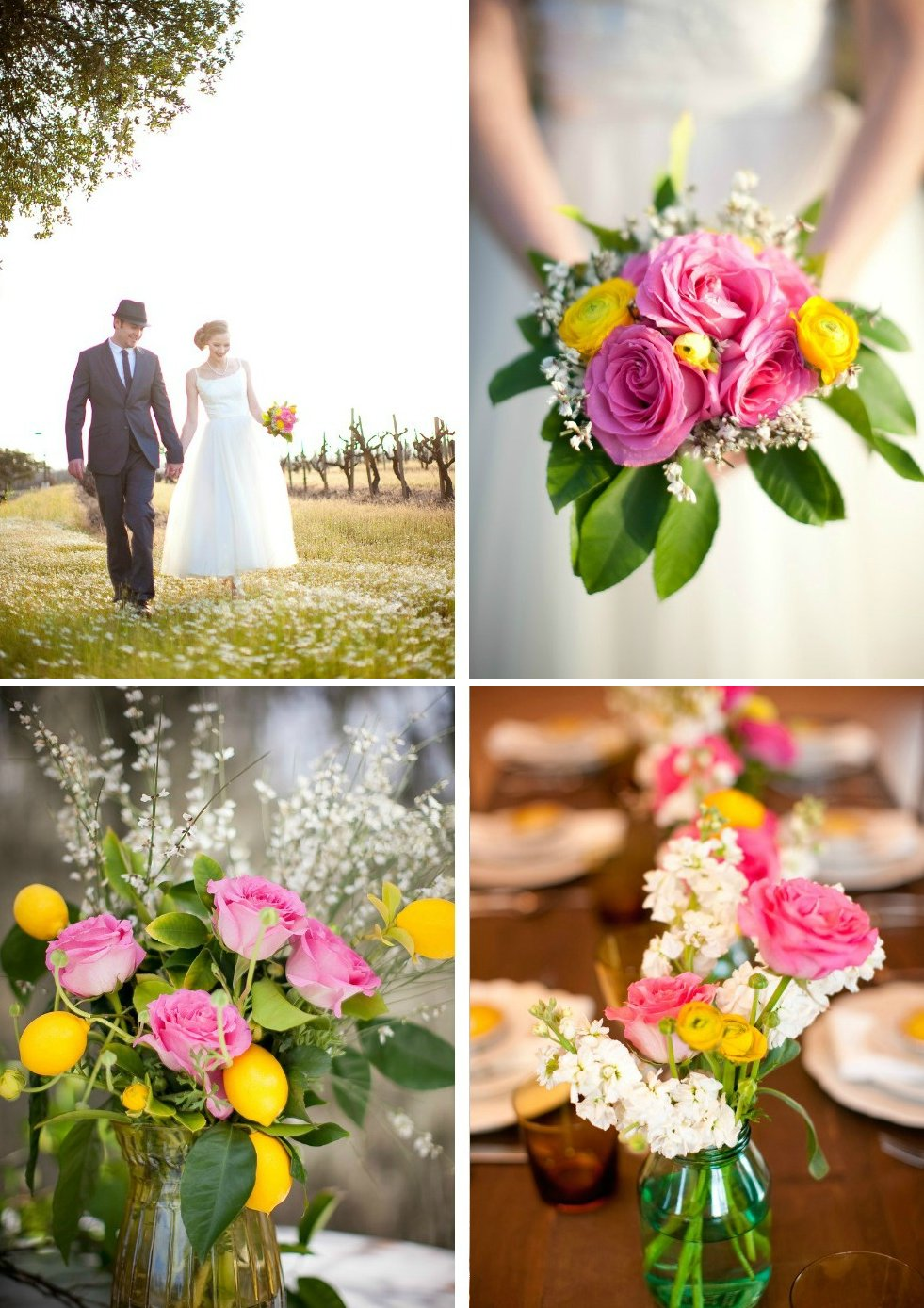 Outdoor-romantic-wedding-with-bright-yellow-and-pink-flowers.full