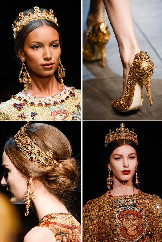 Queenly wedding inspiration from Dolce and Gabbana