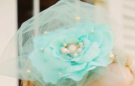 Mint Green Wedding Headpiece for Bridesmaids