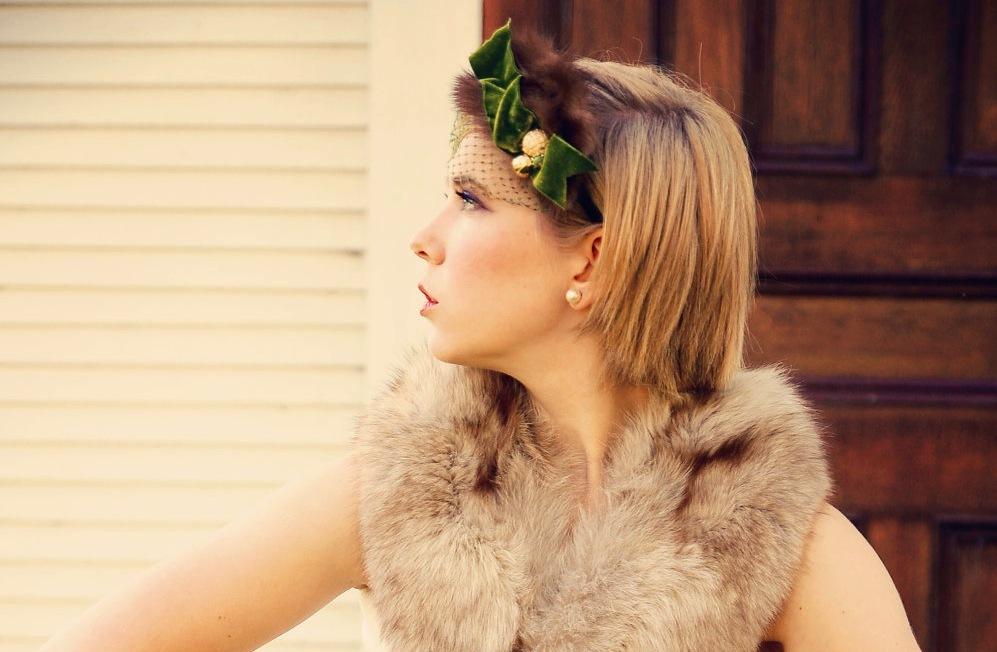 Green-and-brown-fur-velvet-wedding-headband.full