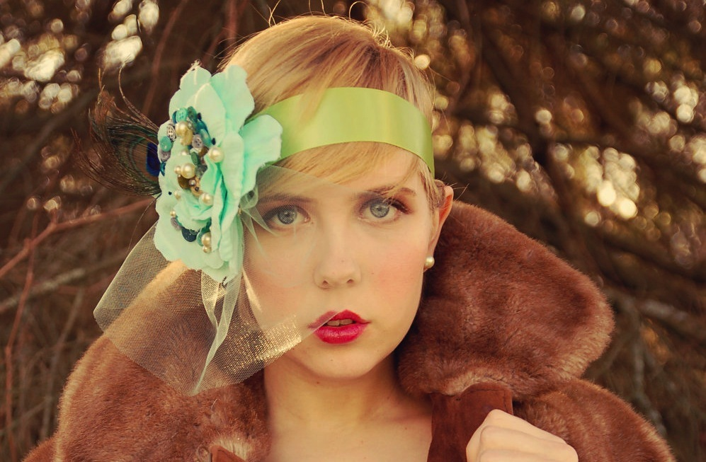 Flapper-inspired-wedding-headpiece-green-mint-apple-emerald.full