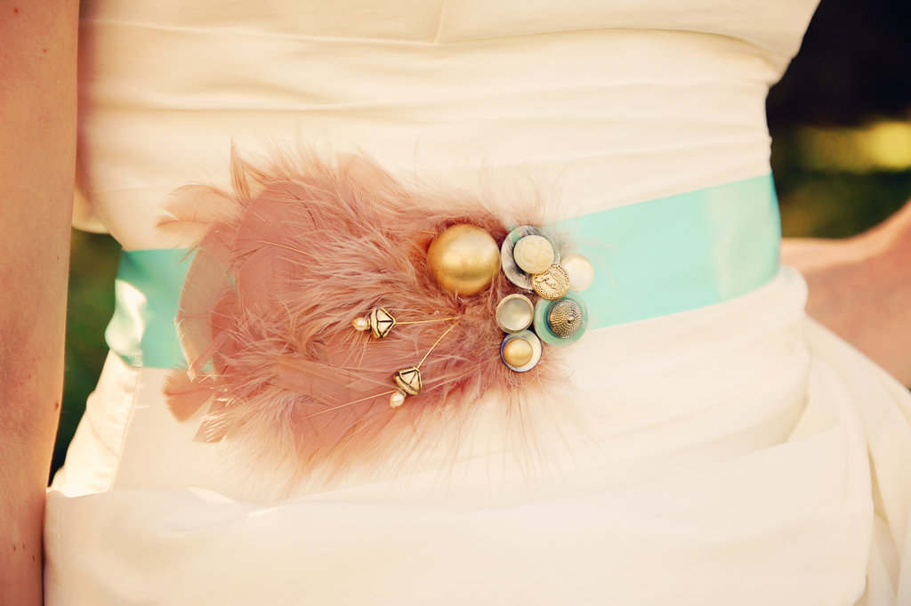 Mint-green-wedding-sash-with-mauve-feathers.full