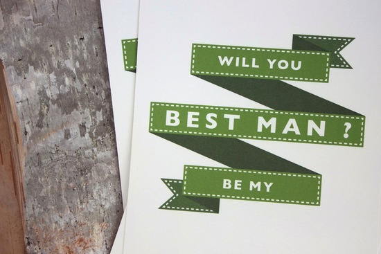 Will you be my best man wedding invitation card