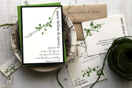Modern Vine wedding invitations