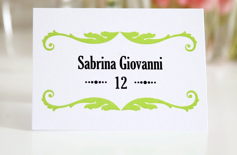 Classic-white-and-black-with-apple-green-wedding-escort-cards.original