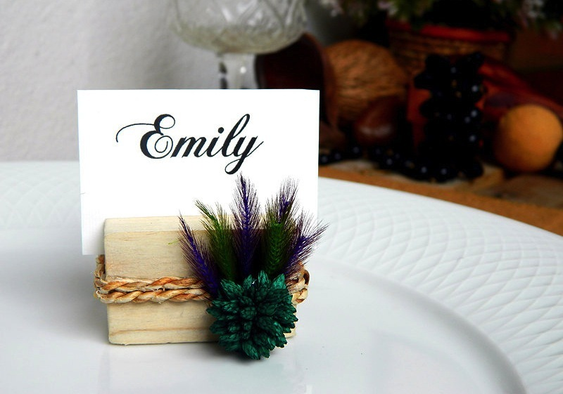 Unique rustic luxe wedding escort card holders