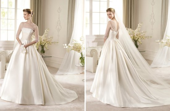 2013 Wedding Dress San Patrick Bridal Costura collection Angela sheer sleeves