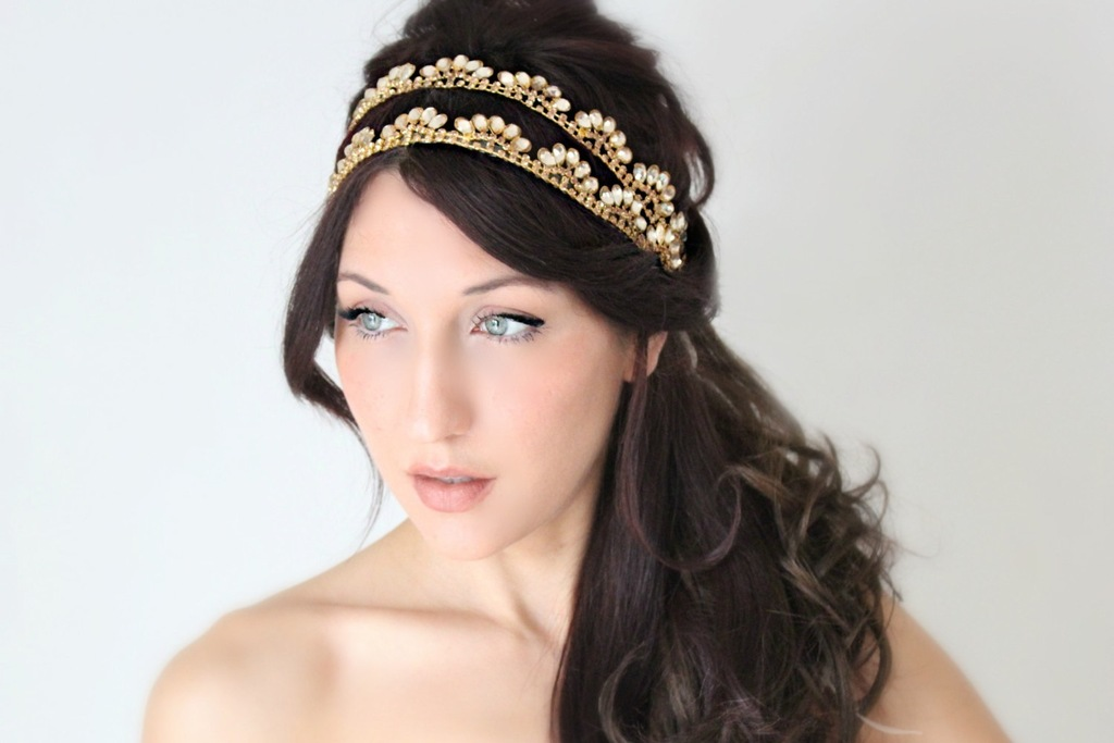 Double-band-vintage-inspired-wedding-head-piece.full