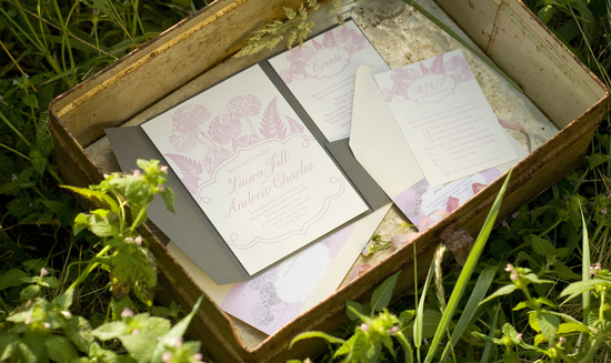 wedding_vermont_letterpress_grey_gray_pink_invitation_fern_wildflowers_pocketfold2