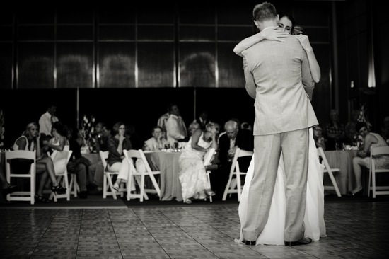 Touching moment during FOB dance at Milwaukee wedding reception