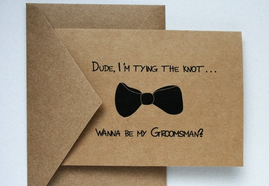 kraft paper will you be my groomsmen card