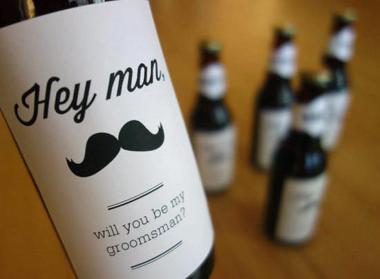 Custom beer labels to help grooms ask their groomsmen