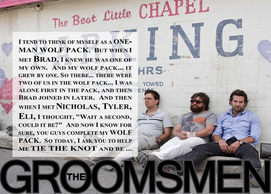 The Hangover Inspired Will You Be My Groomsmen Card