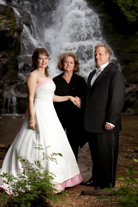 Wedding Officiant Minister Waterfall www.WeddingWoman.net