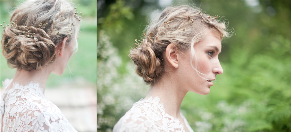 Romantic braided wedding updo outdoor I Dos | OneWed.com