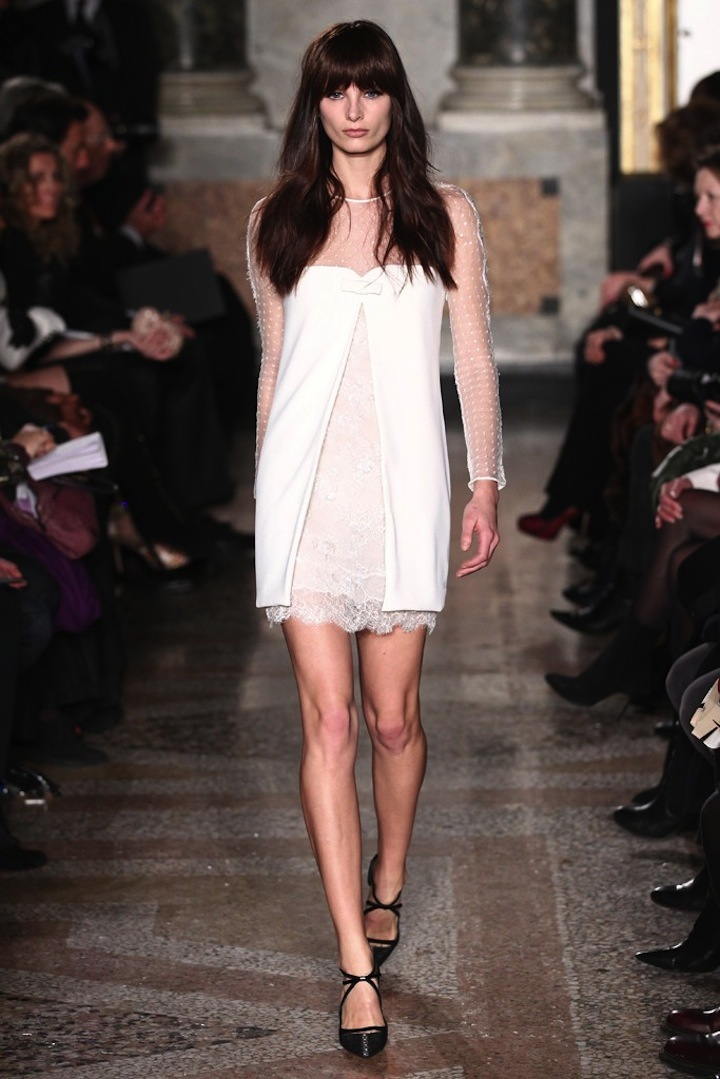 Lace LWD with sheer sleeves by Pucci