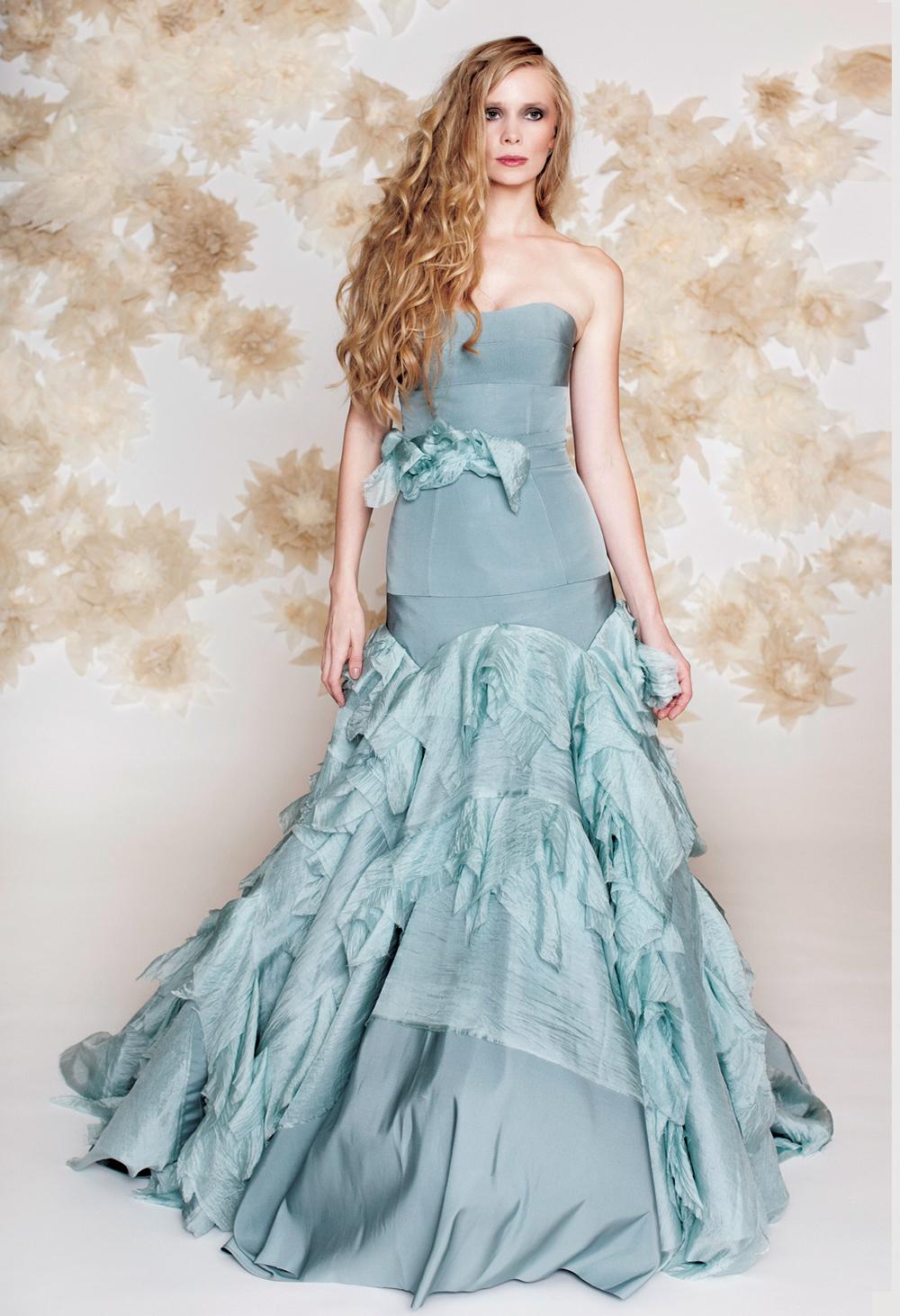 Blue Mermaid Wedding Dresses