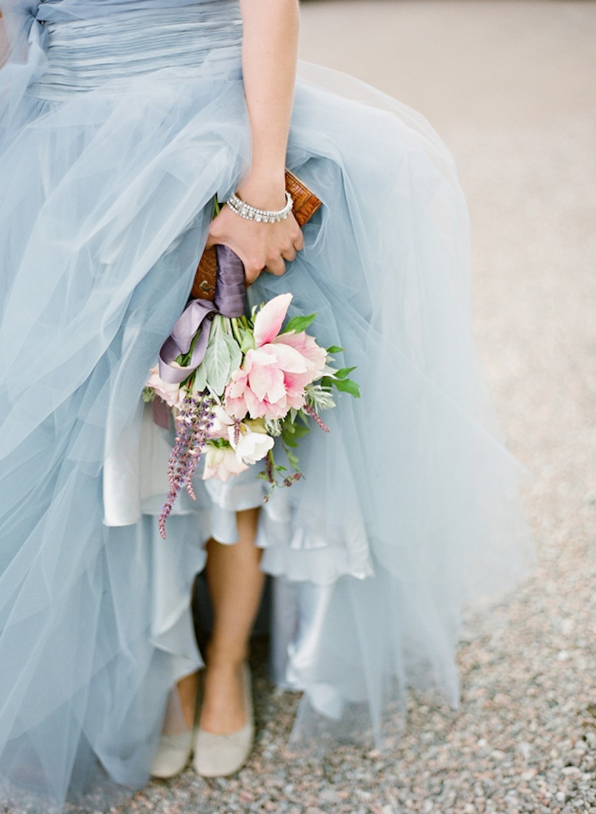 Sky-blue-tulle-wedding-dress-romantic-bridal-bouquet.full