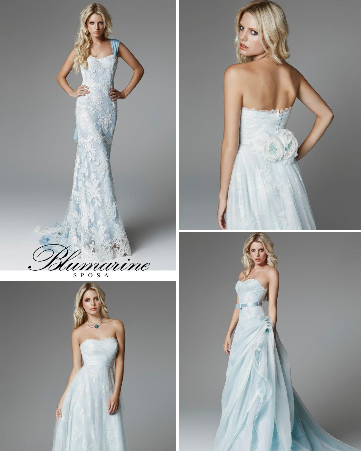 Light blue wedding dresses for 2013 for Light blue and white wedding dresses