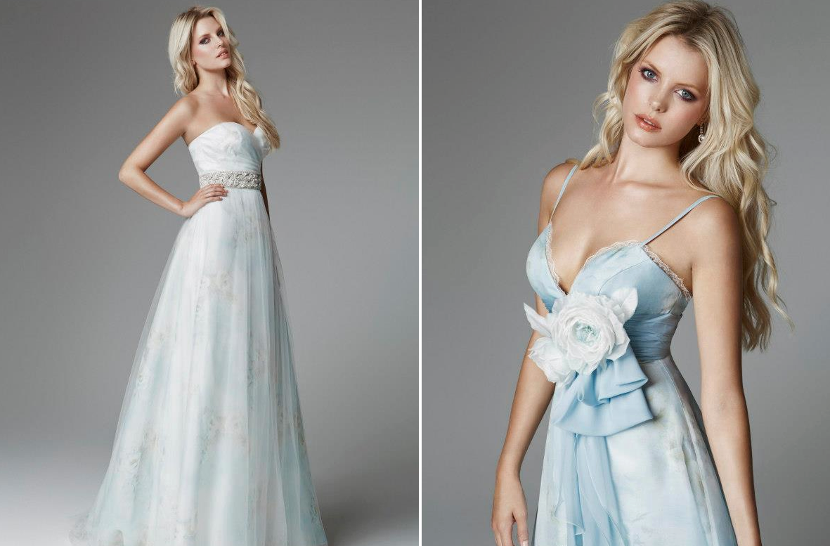 Blue Wedding Gowns: Light Blue Wedding Dresses For 2013