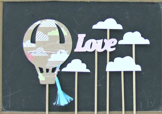 Hot air balloon vintage love