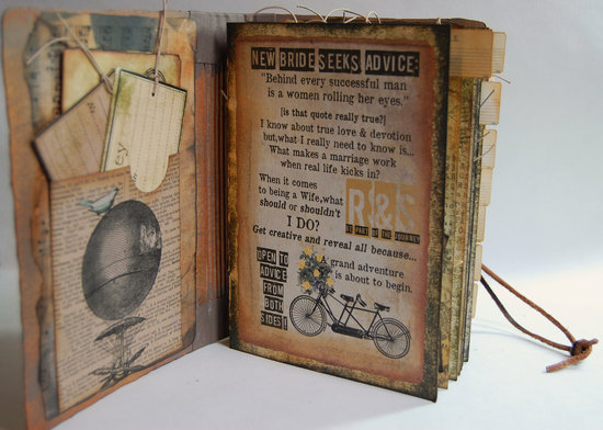 Vintage travel wedding guest book