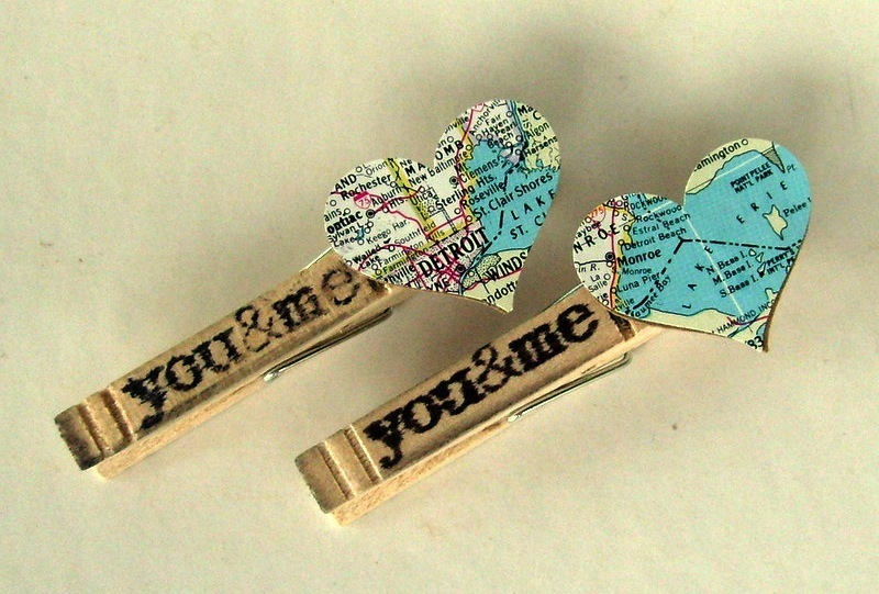Clothespins-with-vintage-map-hearts-for-rustic-outdoor-wedding.full