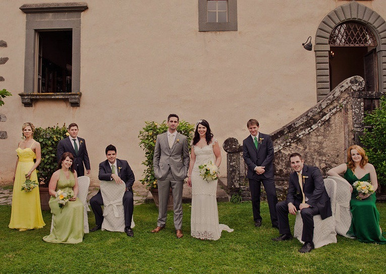 Vintage-outdoor-wedding-with-unique-mix-and-match-maids.full
