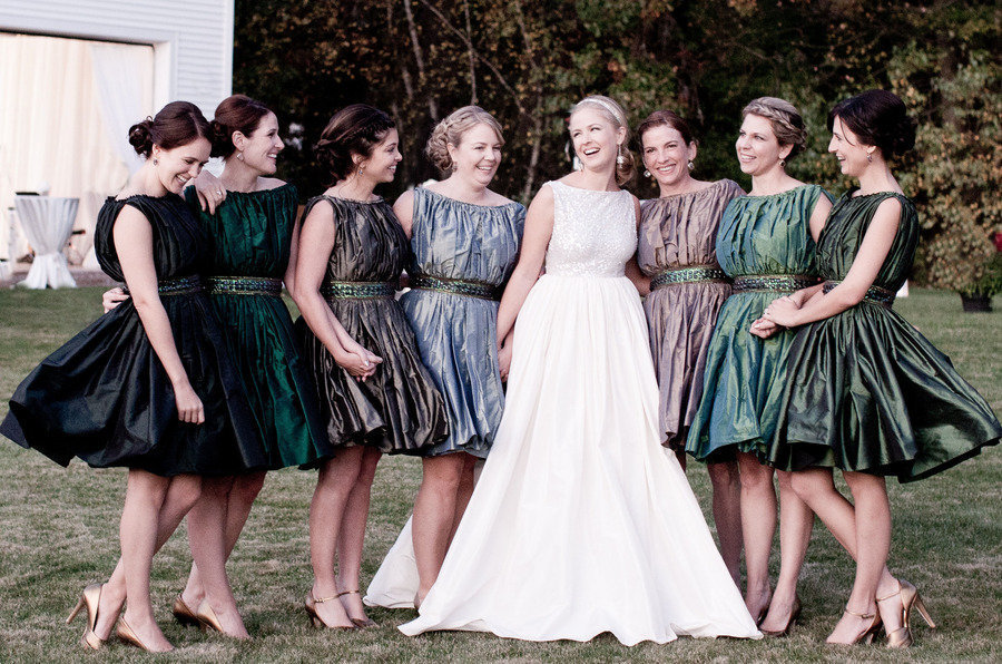 Awesome ways to mix and match bridesmaids 1