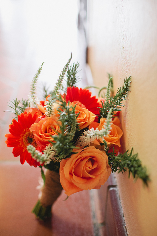 Orange Flowers for Wedding