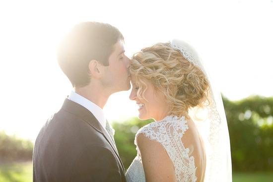 Natural Curls Bridal Updo Lace Wedding Dress