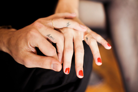 Discreet wedding ring tattoos