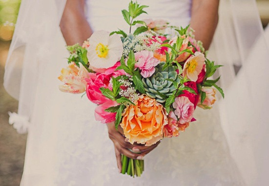 Unique wedding bouquet for Springtime