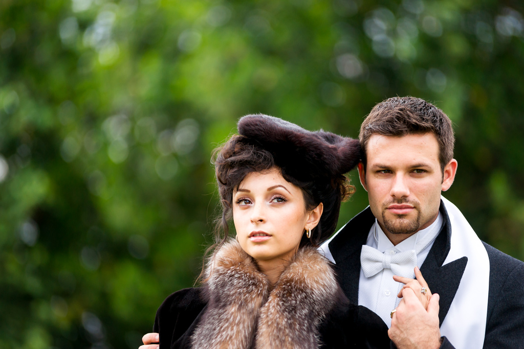 Anna Karenina wedding inspiration bride and groom