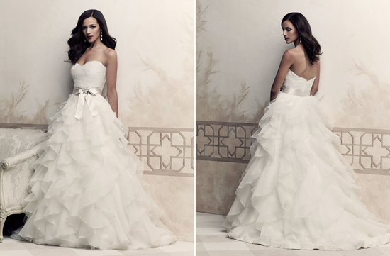 Wedding dress by Paloma Blanca 2013 Bridal Premier Collection 4363