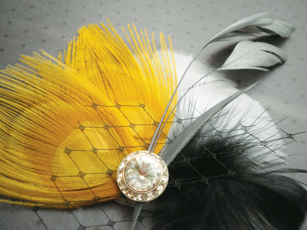 Yellow-black-white-bridesmaid-hair-accessory.full
