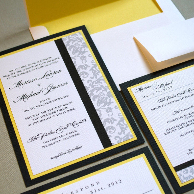 Classic-damask-wedding-invitations-black-white-yellow.full